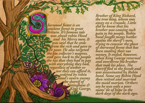 Illuminated Manuscript by CJangel