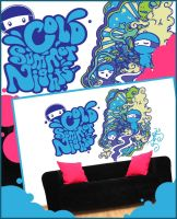 Cold Summer Nights Wall Vinyl by supermanisback