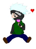 kakashi eating lollipop xD by xBlackGurlx