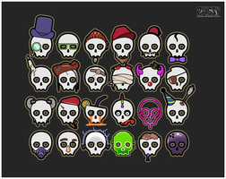 Trendy Skulls by Zwigzy