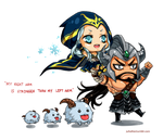 Ashe x Tryndamere by juhaihai