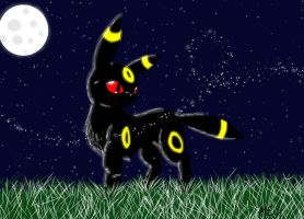 Moonlit Umbreon by dragonsong17