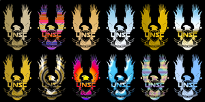 New UNSC logo variants. by Jamezzz92