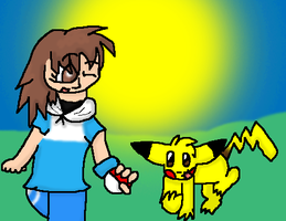 :Request:Saph And Pikachu by GrowlitheArtistGirl