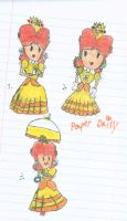 Paper Daisy (Poses used from Peach's offical art) by PrincessDaisyRocks10