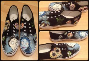 Corpse Bride sneakers by RubenFD
