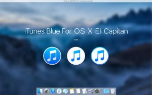 iTunes Blue For OS X El Capitan by APPLEICON