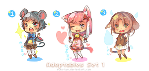 Adoptables: Set 1 (open 2 left) by ecko-kun