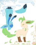 Leafeon and Glaceon by SneaselFox101