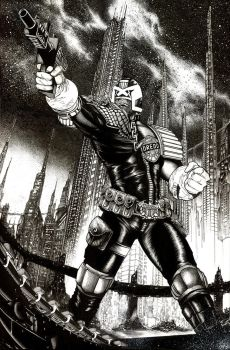Judge Dredd final I AM THE LAW Cover by Blasterkid