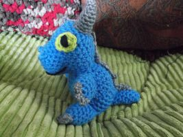 Baby blue dragon amigurumi by ShadowOrder7