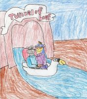 Sly And Carmelita In The Tunnel Of Love by trexking45