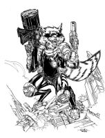 Rocket Raccoon by SpiderGuile