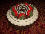 Chocolate Crochet Cake by Anuella