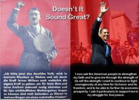 Obama Hitler 2 by londonbats