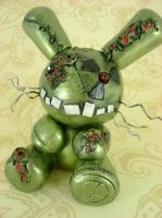 Wyatt - Nuclear Zombie Bunny by monsterkookies