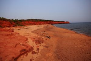 Stock: Red Beach of Cavendish by Celem