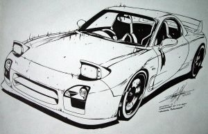 RX-7 FD3S RedSuns Initial D by EdgardoS