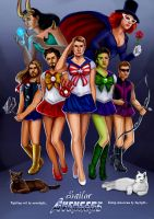 Sailor Avengers by jessrobley