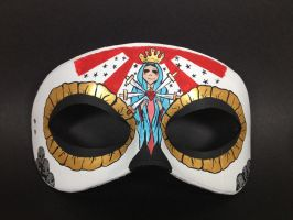 Our Lady of Sorrow inspired masquerade mask by maskedzone