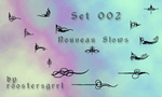 02 - Nouveau Flows Brushes by wolfgrrlone