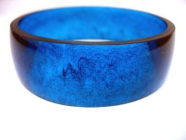 Sapphire Blue  Resin Bangle by TopazTurtle