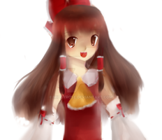Reimu (Practicing coloring..kinda) by TheMidnightPuppeteer