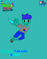 Porygo Takashi by CreativeArtist-Kenta