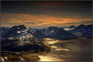 Wild arctic mountains by steinliland