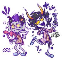 Homestuck - Patron Trolls... dressed in my pajamas by sanna-mania