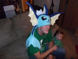 Pokemon Vaporeon Fleece Hat by tentenswift
