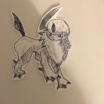 Absol biro by the-revenge-reaper