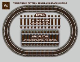 Railroad Track Pattern Brush by vectorgeek