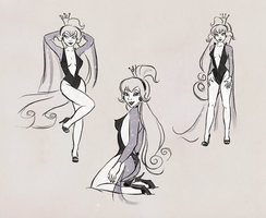 Princess Daphne sketches by sikuriina