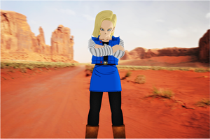 Android 18 by jagged66