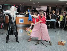 Aerith vs Sephiroth Take 1 by smithers456