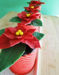 12 Days of Christmas :: 4 Poinsettia Jocondes by cakecrumbs