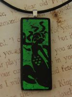 Medusa Naga Fused Glass by FusedElegance