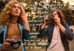 Led Zeppelin: Robert + Jimmy by hija-de-luna