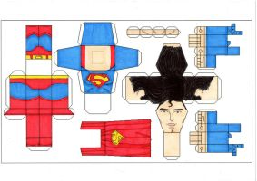 Superman 78 paper toy template by Ditch-scrawls