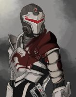 ME2: Shepard by Fulcrumisthebomb