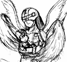 WIP - Angemon and TK by TaintedTamer
