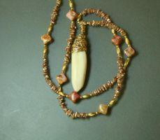 Walrus tooth pearl necklace by EskimoScrybe