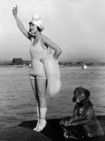 Marie Prevost With Teddy The Wonder Dog by NJDVINTAGE