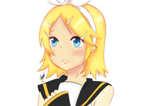Rin Kagamine [Coloured] by ChibiKawaiiLuv