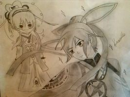 Hikoboshi and Orihime from Ayakashi ghost Guild by Reinarc