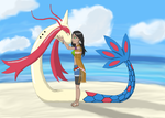 Ehnita Sleaford and Sapphire (Milotic) by TheSpiritOfTheWoods