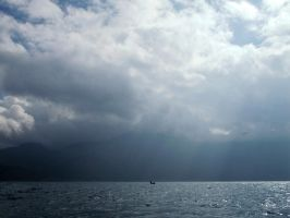 Alone in the Lugu Lake by kaithel