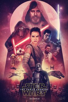 StarWars The Force Awakens Poster by adamxxxx