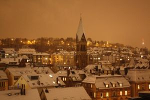 Stuttgart at Night - Winter by Katerianer